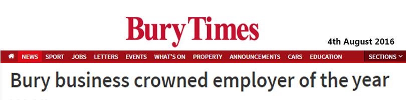 bury times employer of the year