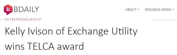 Kelly Ivison of Exchange Utility wins TELCA award